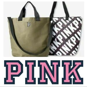 VS PINK dual Insulated Zip Cooler Tote Bag NWT